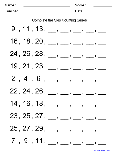 skip counting kindergarten worksheet. Black Bedroom Furniture Sets. Home Design Ideas