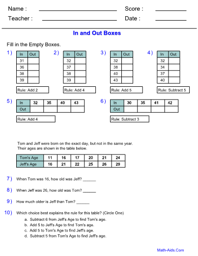 Function Table Worksheets With Answer Sheet I TeacherSherpa moreover  moreover Multiplication Input Output Tables Worksheets Table Middle moreover Function Tables  In and Out Bo  CCSS Aligned   Math Centers also Number Names Worksheets Times Table Sheets To Print Out Ideas About together with Function Tables  Input Output   Math Worksheets   Math  Math likewise Multiplication table worksheets printable   Math worksheets besides Input Output Machine Worksheet Worksheets For All Download And as well Worksheetplace    Input Output Multiplication   Math   Pinterest in addition input and output math worksheets – r moreover Printable Input Output Worksheets In Out Bo Decimal And Energy moreover In And Out Table In Out Bo Printable 147867648 Milliliters moreover In Out Bo Multiplication Good Function Table Worksheets moreover Input Output Bo likewise In Out Bo Printable Decimal Times Tables Patterns Worksheets also 2 Times Table Worksheet and Activities  by carolynrouse   Teaching. on in and out table worksheets