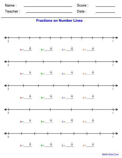 Number Line Worksheets With Answer Sheet I TeacherSherpa