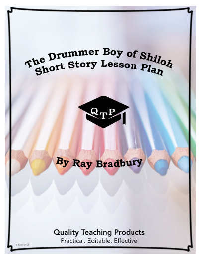 photograph regarding Shiloh Worksheets Printable identified as The Drummer Boy of Shiloh Lesson and Major