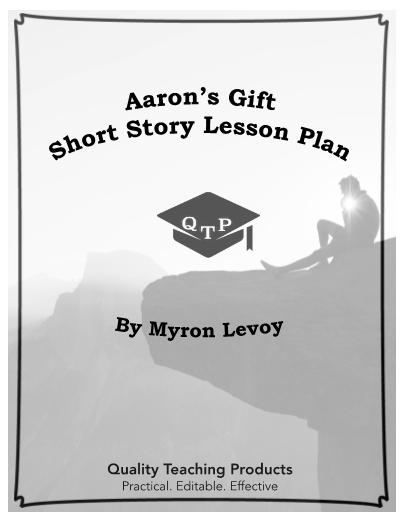 Gift by Myron Levoy Lesson Plan