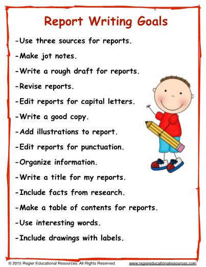 Educational report writing