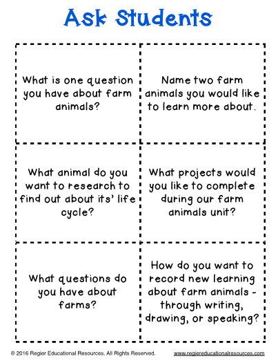 Farm Animal Hot Seat Questions