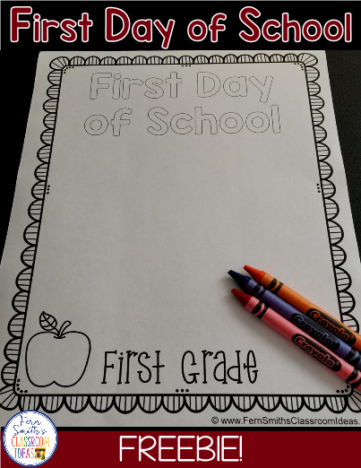 Back To School Coloring Page First Day Of School