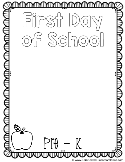 Back To School Coloring Page First Day Of