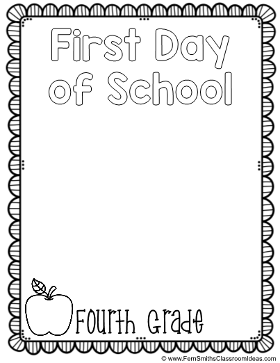 - Back To School Coloring Page First Day Of School