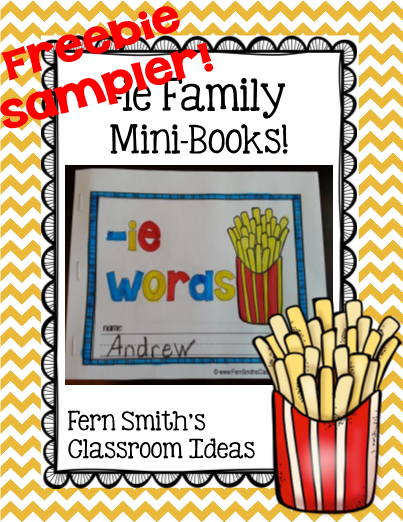 picture relating to Printable Word Family Books identify ie as lengthy i Phrase Household Printable Mini-Publications