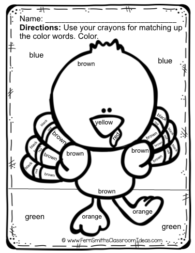 thanksgiving color by code words and coloring page