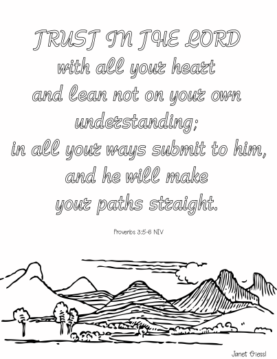 Encouragement Bible Verse Coloring Pages