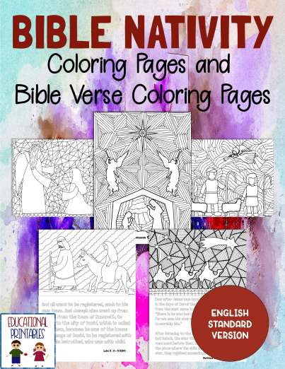 Bible Nativity Coloring Pages
