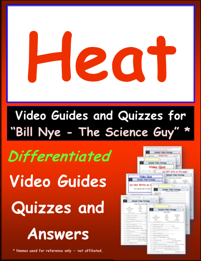 Worksheet For Bill Nye Heat Video Differentiated Worksheet