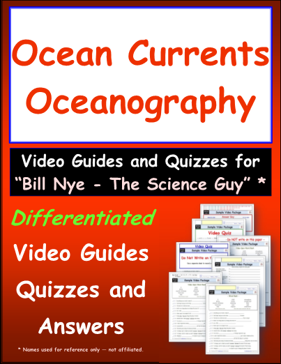 Worksheet For Bill Nye Ocean Currents Video Differentiated