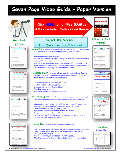 Worksheet for Bill Nye - Motion * Video Differentiated ...