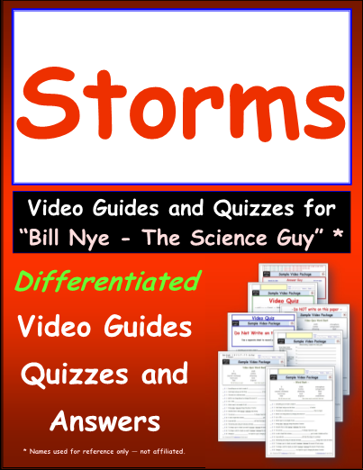 Worksheet for Bill Nye - Storms * Video Differentiated ...