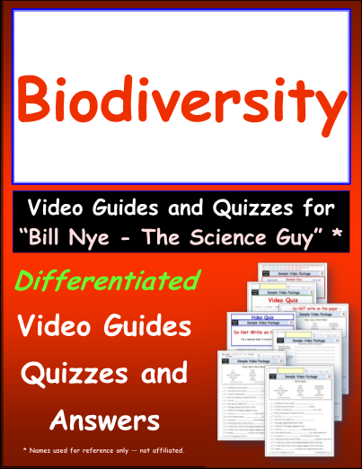 picture about Biodiversity Printable Worksheets identified as Worksheet for Invoice Nye - Biodiversity * Online video Differentiated