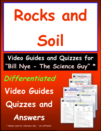 Worksheet For Bill Nye Rocks And Soil Video