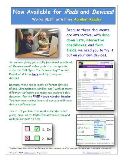 Worksheet For Bill Nye Measurement Video
