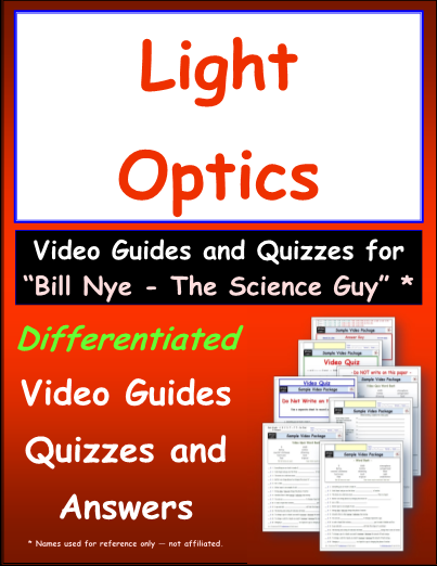 Worksheet For Bill Nye Light Optics Video