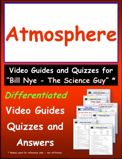 Worksheet For Bill Nye Atmosphere Video Differentiated Worksheet