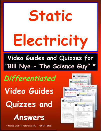 Worksheet for Bill Nye - Static Electric * Video Differentiated ...