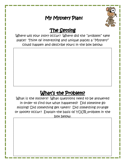 Writing templates mystery writing templates pronofoot35fo Image collections