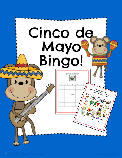 Cinco De Mayo Cut & Paste Bingo Game!
