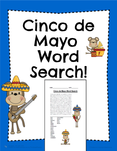 Cinco de Mayo Word Search