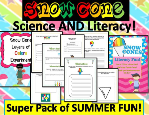 Snow Cone Science & Literacy Fun!