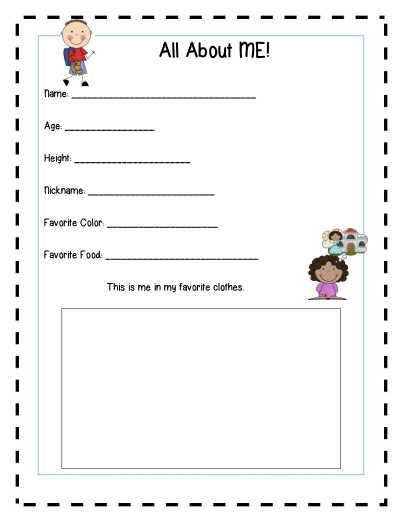 It's just a picture of Preschool Memory Book Printable in teacher
