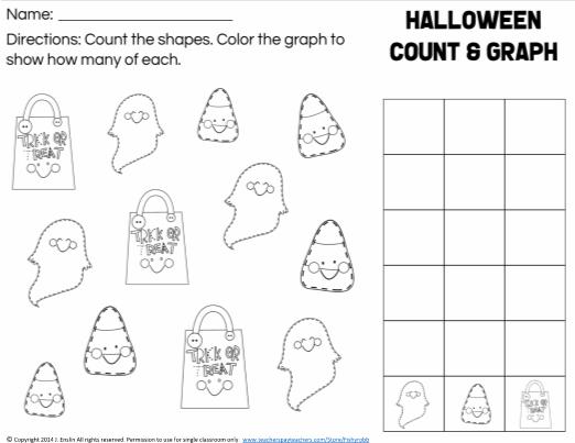 Halloween Count Graph Worksheet Kindergarten