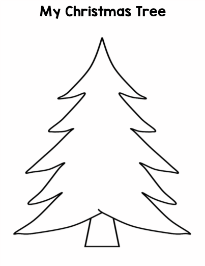 - Christmas Tree Glyph Drawing Activity