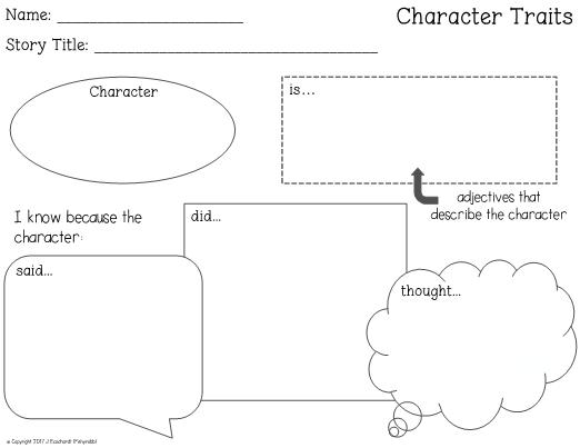 Traits graphic organizer character traits graphic organizer ccuart Gallery