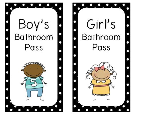 photo about Bathroom Pass Printable known as printable toilet pes -