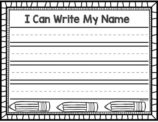 name writing practice activities