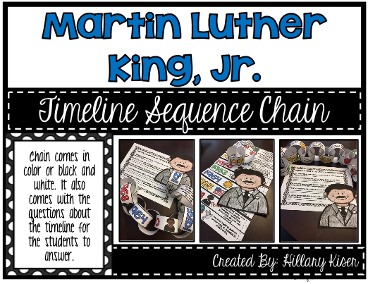 martin luther king jr timeline chain