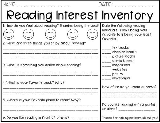 image relating to Interest Inventory for Students Printable titled Looking through Attention Stock