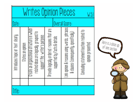 rd Grade Writing Rubric